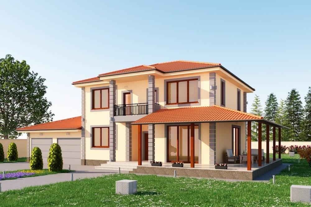 Двуетажна луксозна къща в с.Марково